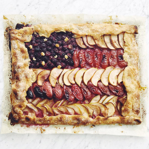 We whipped up star-spangled galette for Independence Day, using cover guy Blake Bashoff's master galette recipe that appears in Issue 1.