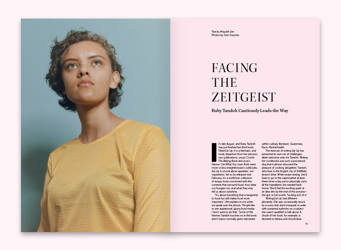"In ""Facing the Zeitgeist,"" Mauhkh Sen interviews Ruby Tandoh, photos by Yann Faucher"
