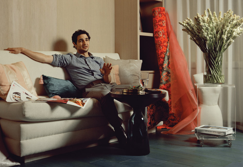 Issue 5 Cover guy Zac Posen, shot by photographer Ryan Pfluger, in his Manhattan office and showroom this July.