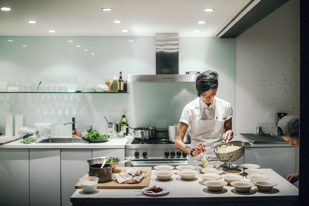 Guest Chef Kristen Kish at a JaynesBeard event in November, 2017.