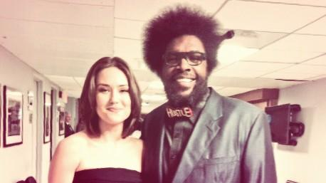 Celebrity Sightings Questlove spotted in the limited edition red #HustleBowTie colorway! Shop HERE.