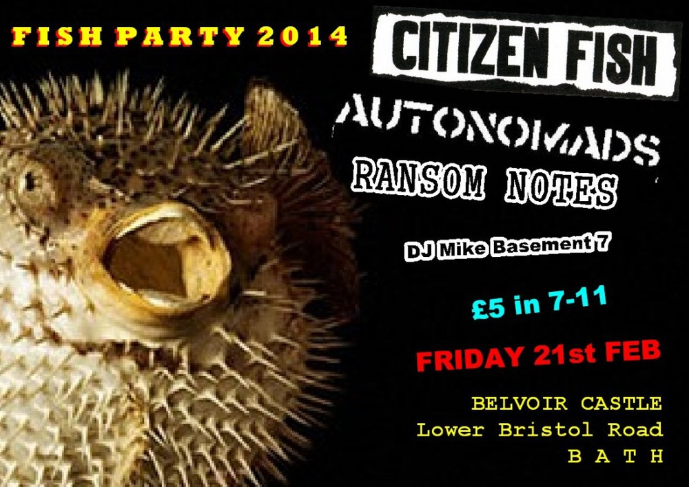 Citizen Fish gig flyer 2014