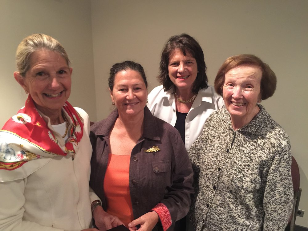 Left to right: Libby Smith, Horticulture Judge; Joan Rockwell-Gifford, newly approved Floral Design Judge; Jennifer Lawrence, NSGC President; Cynthia Donahue, Judge Emeritus for both Horticulture and Photography