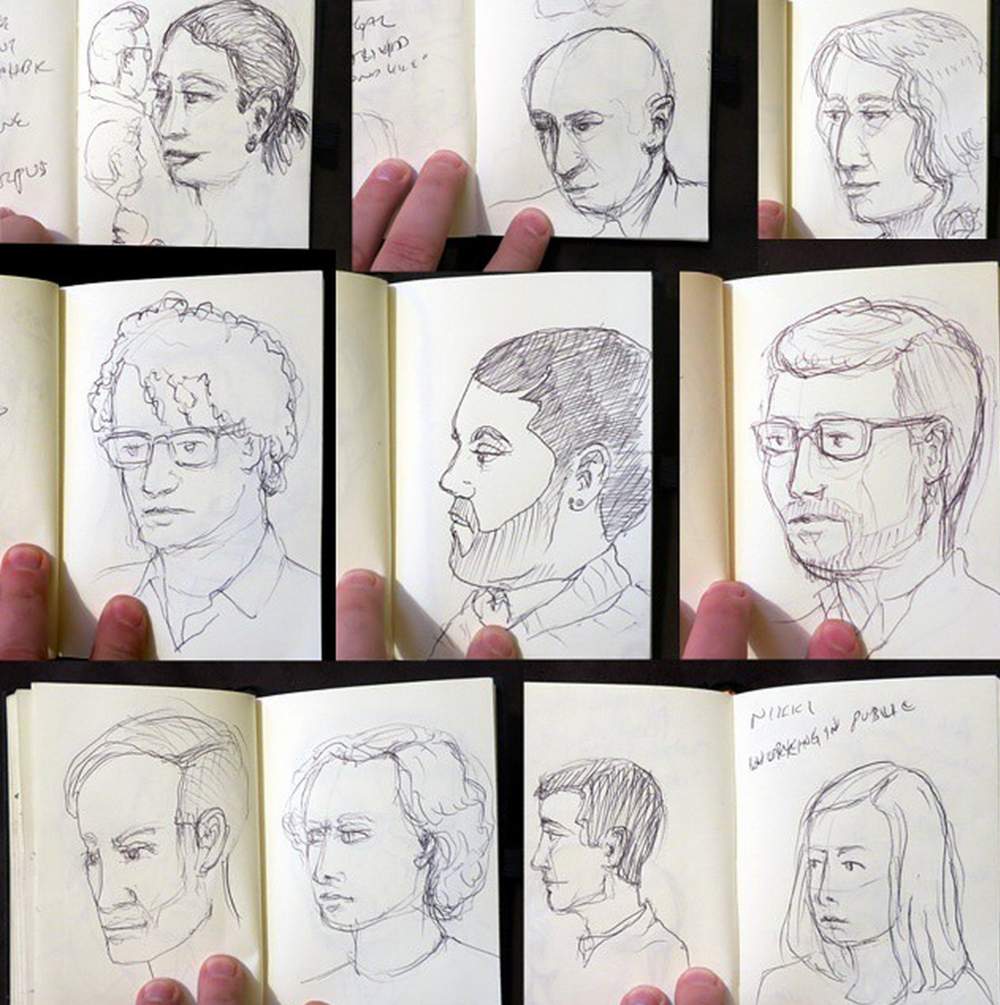 noah scalin sketches of speakers at GEL conference for his #CreativeSprint