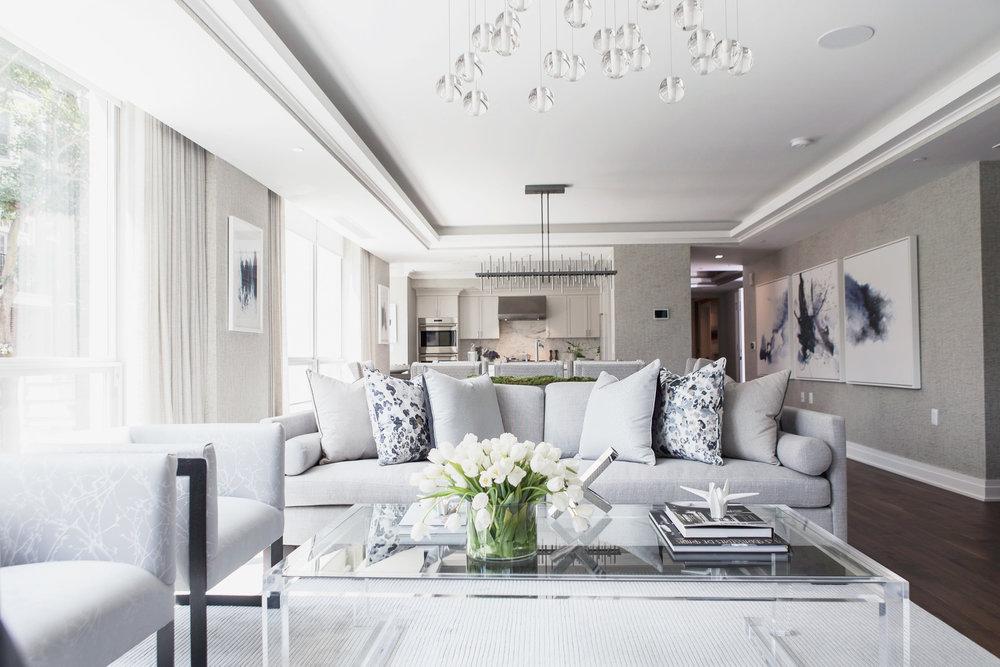 The Lauren Residences Living Room • Image Provided by The Lauren Residences / ADG
