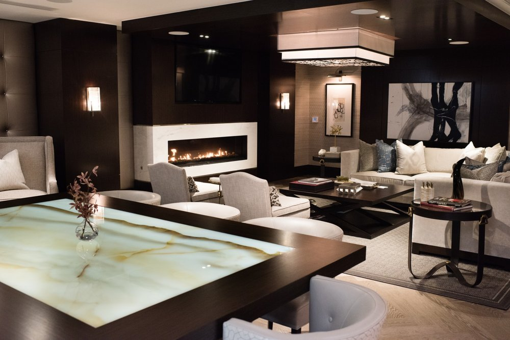 The Onyx Lounge on the lower level of the Lauren was designed by Akseizer. (Sarah L. Voisin/The Washington Post)