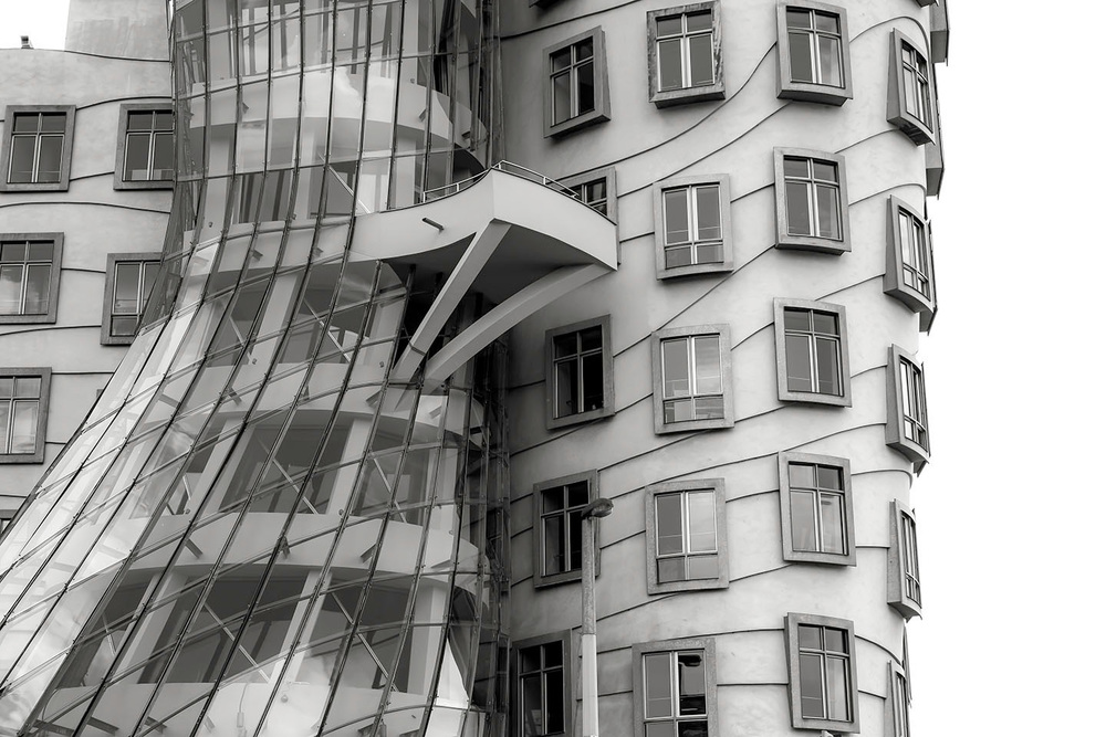 the dancing house  Prague : Czech Republic 2013
