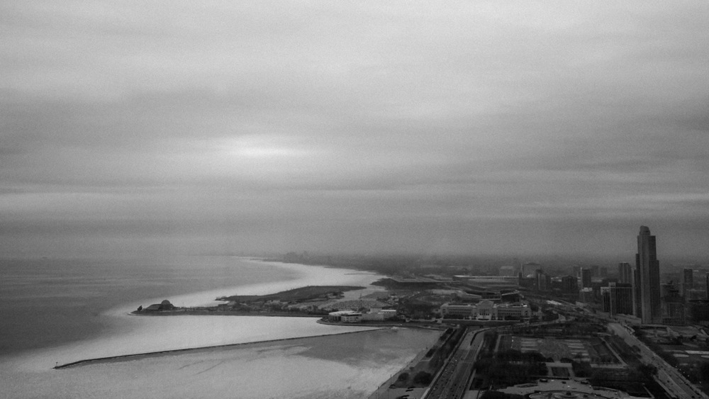 """all the places in between no. 3   from the """"An Architect's Dream"""" series  Lake Michigan :Chicago,Illinois2009"""
