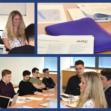 This week, we were delighted to welcome Maria Gardner, a Senior Investment Analyst, and JIBS degree alumnus Ben Channing from Asset Risk Consultants, to talk to our second year students, who are currently studying Portfolio Management as a core element of their BSc (Hons) International Financial Services degree.  Maria and Ben provided an insight into the value-added approach ARC use, measuring and comparing performance of portfolios while ensuring clients and investment managers are fully aware of risks involved. Their input was invaluable, providing an insight into how the academic theories they are learning in the classroom are applied in practice in a rigorous professional environment.  The Portfolio Management module provides an insight into contemporary academic theory on portfolio management which is applied to the investment industry, ensuring students have a thorough understanding of key methods used in portfolio construction taking into account client risk profiles.  #assetriskconsultants #portfoliomanagement  #studyinjersey #universitylife #degree #jerseyci #financialservices #career #finance #uniofbuckingham #economics #investment #banking #businessschool