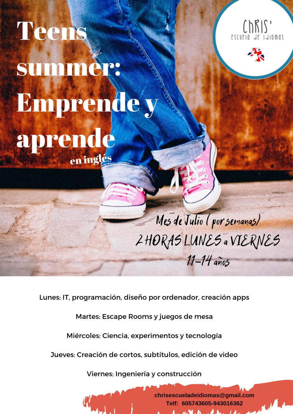 ingles en verano para adolescentes