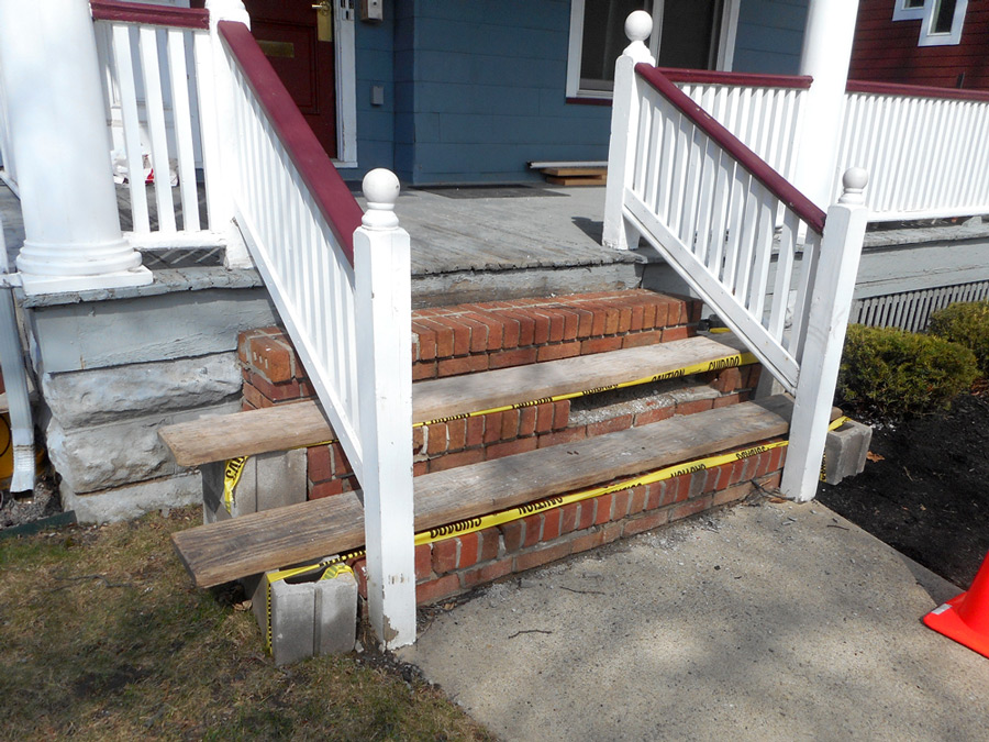 Brick Step Repair: Before