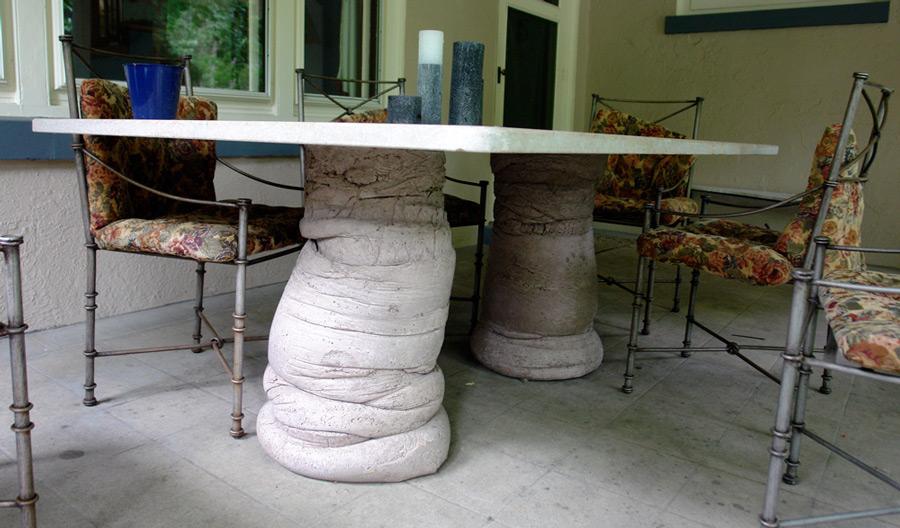 Table: Fabric Cast Concrete