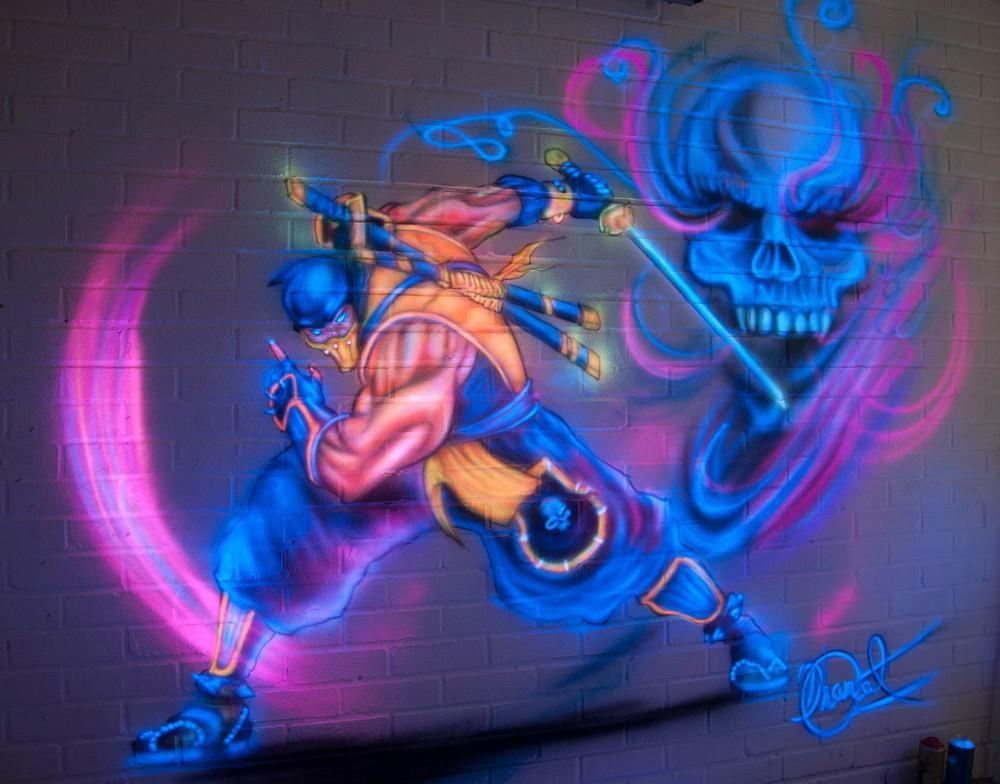 Mortal Kombat - Scorpion mural