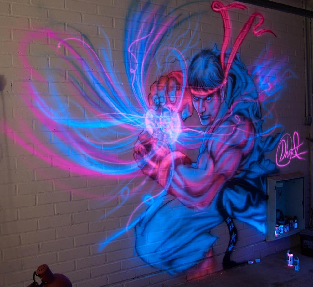 Street Fighter - Ryu mural