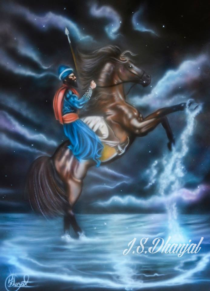 Nihang on horse