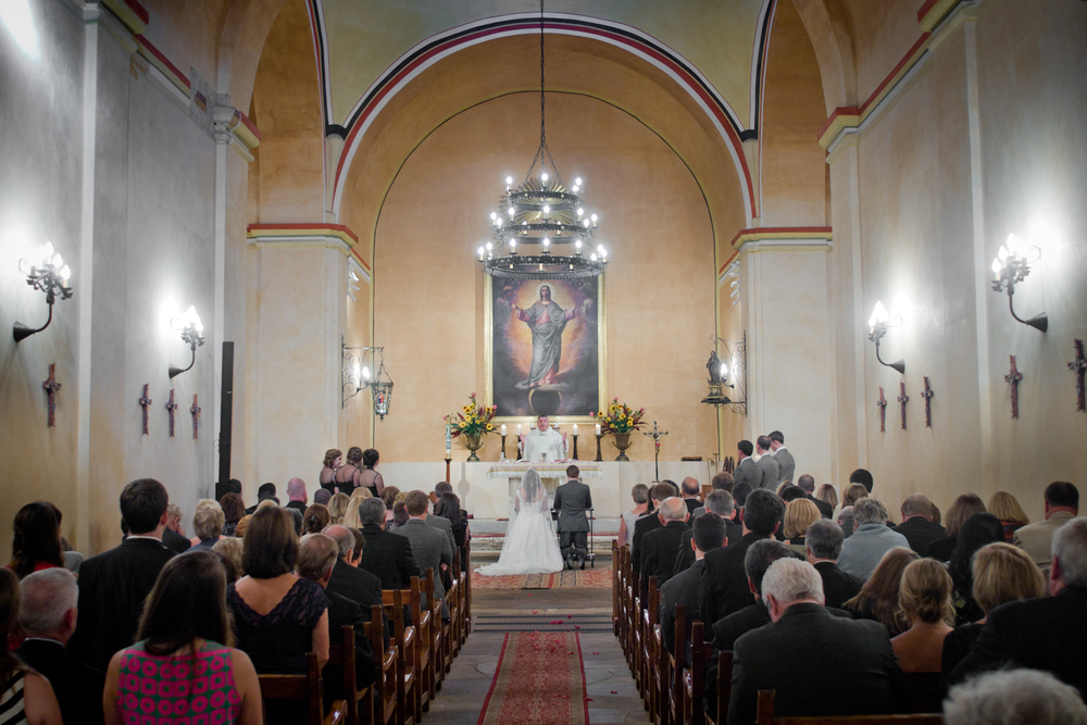 Wedding Ceremony at Mission Concepción - San Antonio Wedding Photographer