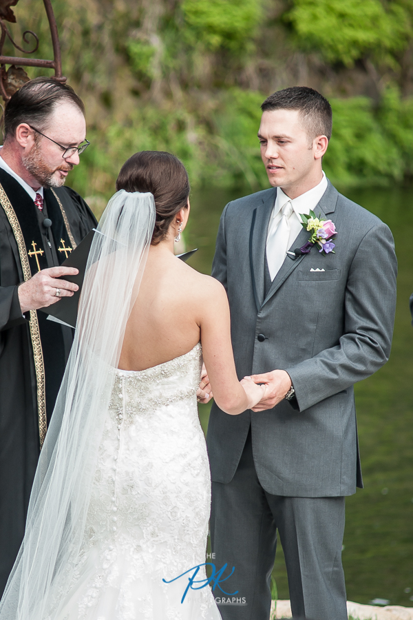 Bride and Groom Saying Vows -  San Antonio Wedding Photographer