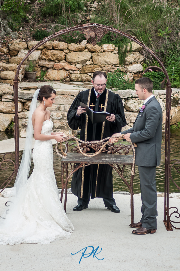 Bride and Groom Tying a Knot -  San Antonio Wedding Photographer