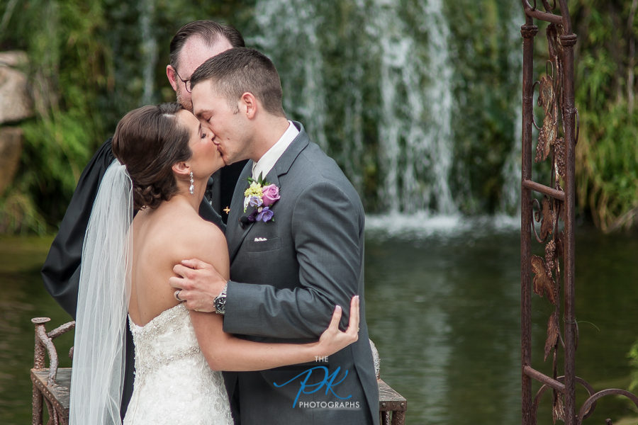 First Kiss as Husband and Wife -  San Antonio Wedding Photographer