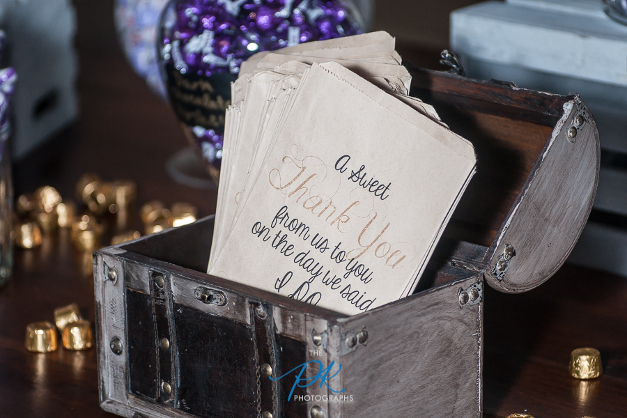 Personalized Bags at Candy Table -  San Antonio Wedding Photographer