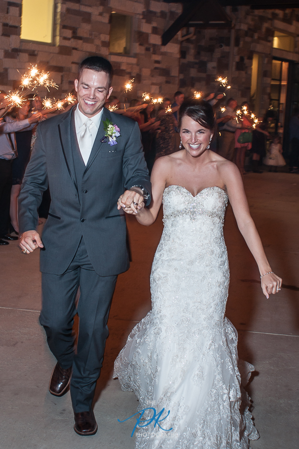Bride and Groom Sparkler Exit -  San Antonio Wedding Photographer