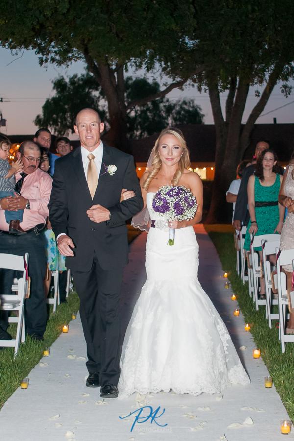 Bride Walking Up the Aisle -San Antonio Wedding Photographer