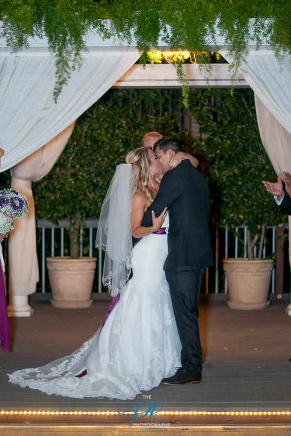 First Kiss as Husband and Wife -San Antonio Wedding Photographer