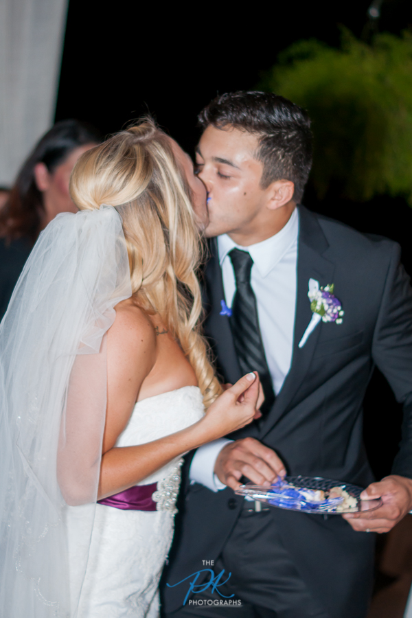 Bride and Groom Cutting the Cake -San Antonio Wedding Photographer