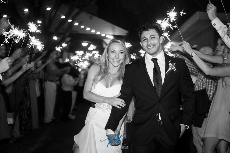 Bride and Groom Wedding Exit with Sparklers -San Antonio Wedding Photographer
