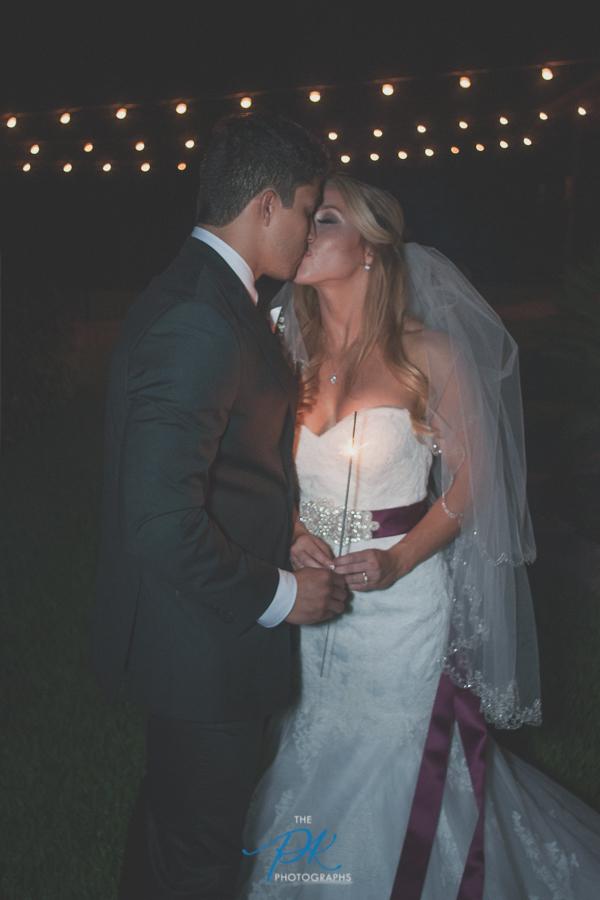 Bride and Groom with Sparklers -San Antonio Wedding Photographer