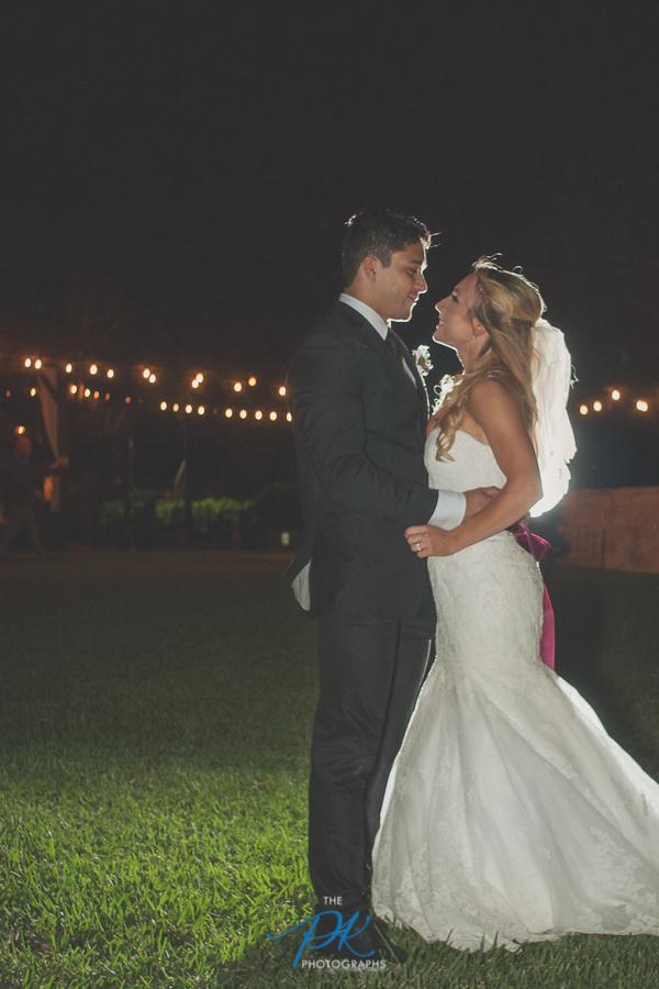 Bride and Groom at Night -San Antonio Wedding Photographer