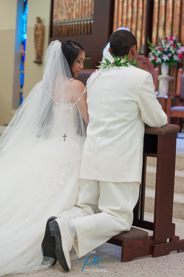 Bride and Groom During Wedding Ceremony - San Antonio Wedding Photographer