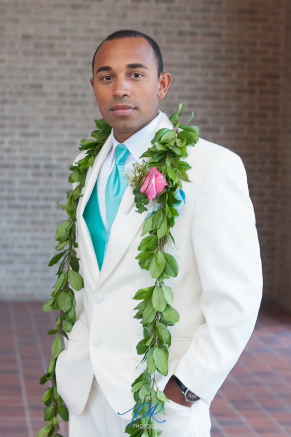 Groom in a White Suit - San Antonio Wedding Photographer