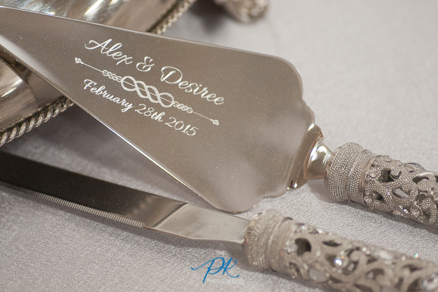 Engraved Cake Knife and Server Set - San Antonio Wedding Photographer