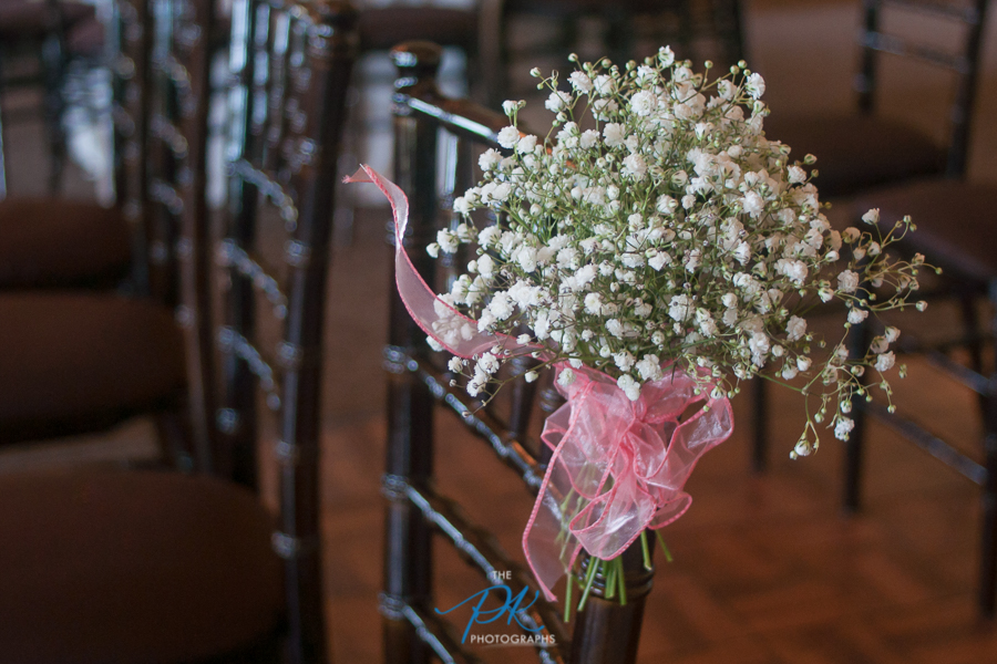 The aisle was decorated simply with this beautiful white flowers.