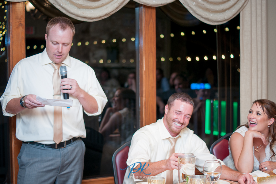The best man's toast had everyone cracking up!
