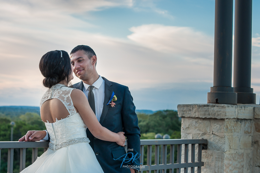Bride and Groom at Cana Ballroom - San Antonio Wedding Photographer