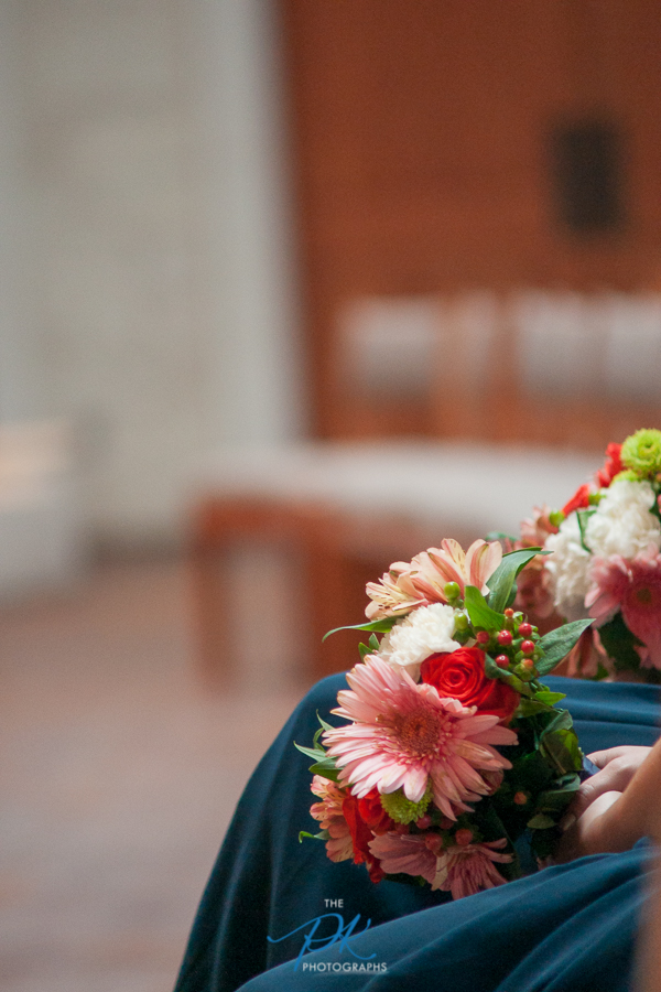 Bridesmaid Flowers at St. Peter the Apostle Catholic Church - San Antonio Wedding Photographer