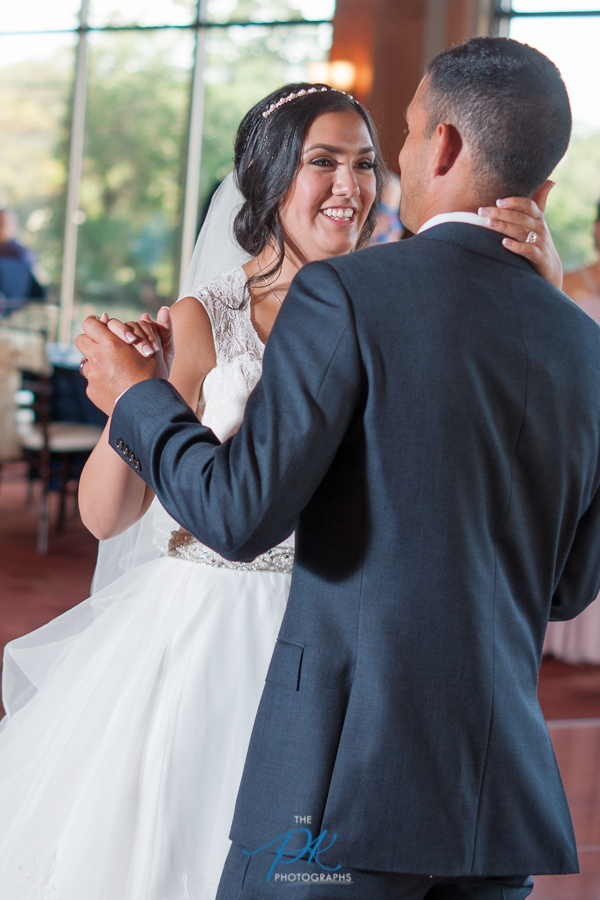 Bride and Groom dancing at Cana Ballroom -  San Antonio Wedding Photographer