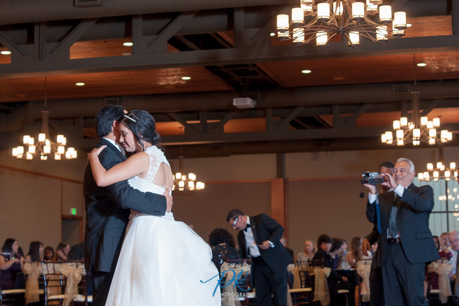 Bride and Father of the Bride Dancing at Cana Ballroom - San Antonio Wedding Photographer