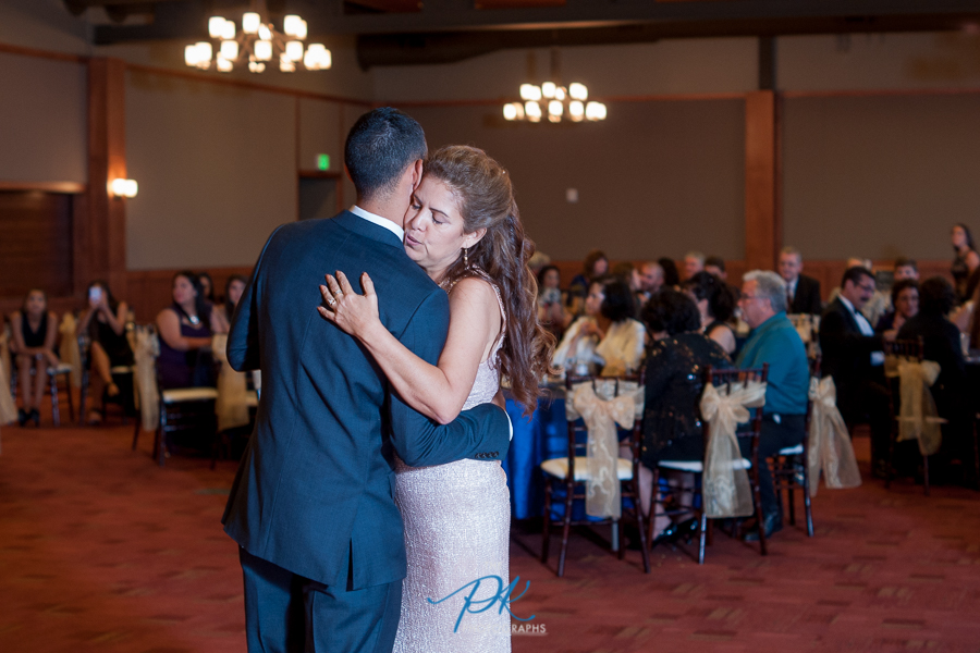 Groom and Mother of the Groom Dancing at Cana Ballroom - San Antonio Wedding Photographer