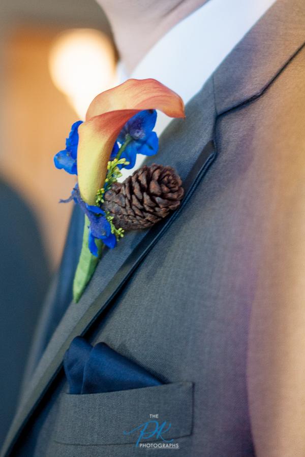 Pinecone  Boutonniere - San Antonio Wedding Photographer