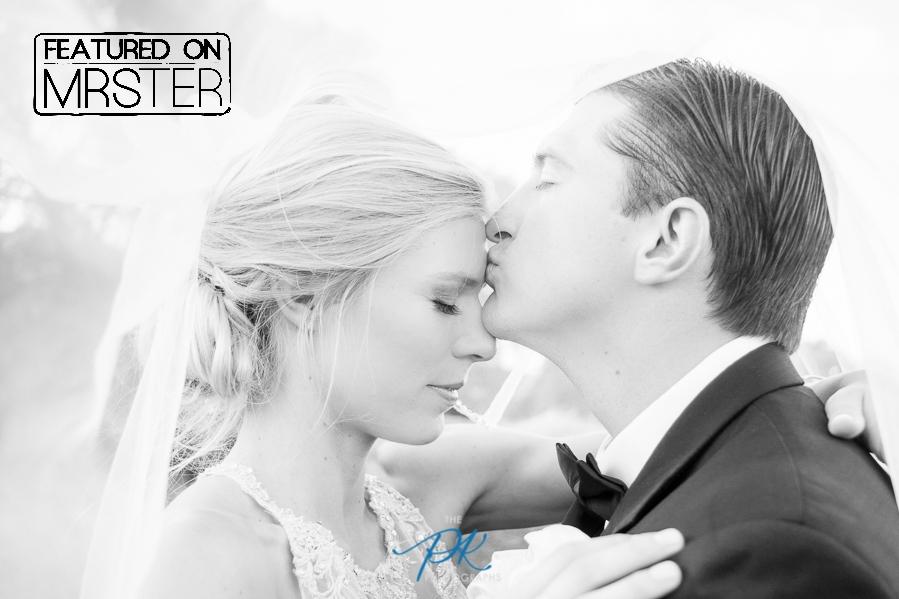 The Bride and Groom under her veil - San Antonio Wedding Photographer