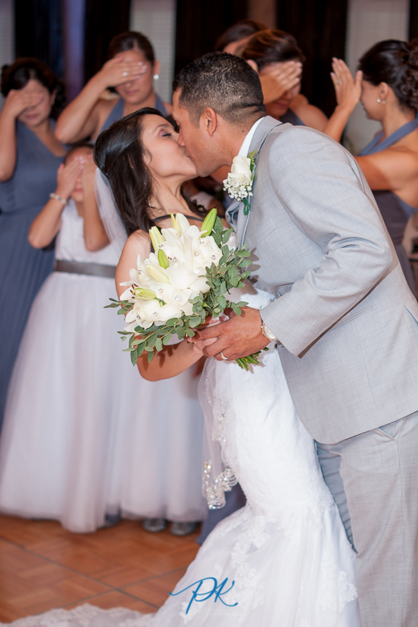 Bride and Groom Kissing - San Antonio Wedding Photography
