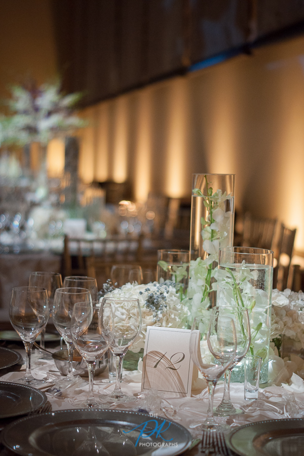 Table Centerpieces at Wedding Reception at the McNay Art Museum - San Antonio Wedding Photographer
