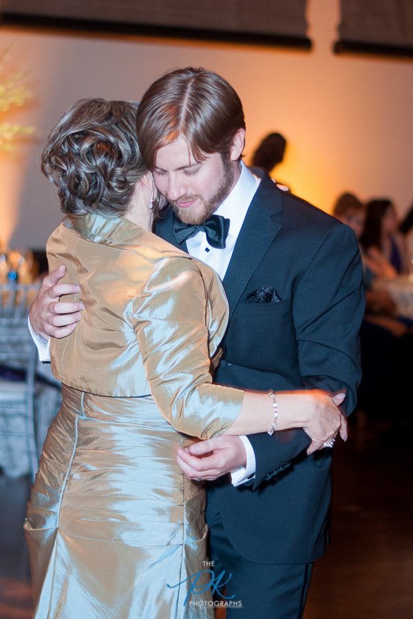 Mother and Groom Dancing at Wedding Reception at the McNay Art Museum - San Antonio Wedding Photographe