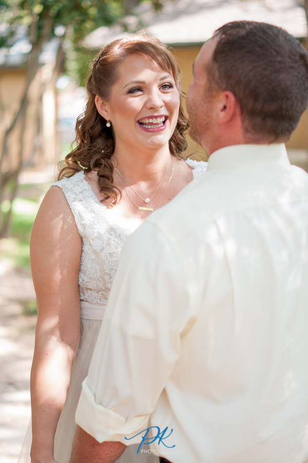 Bride During First Look - San Antonio Wedding Photographer