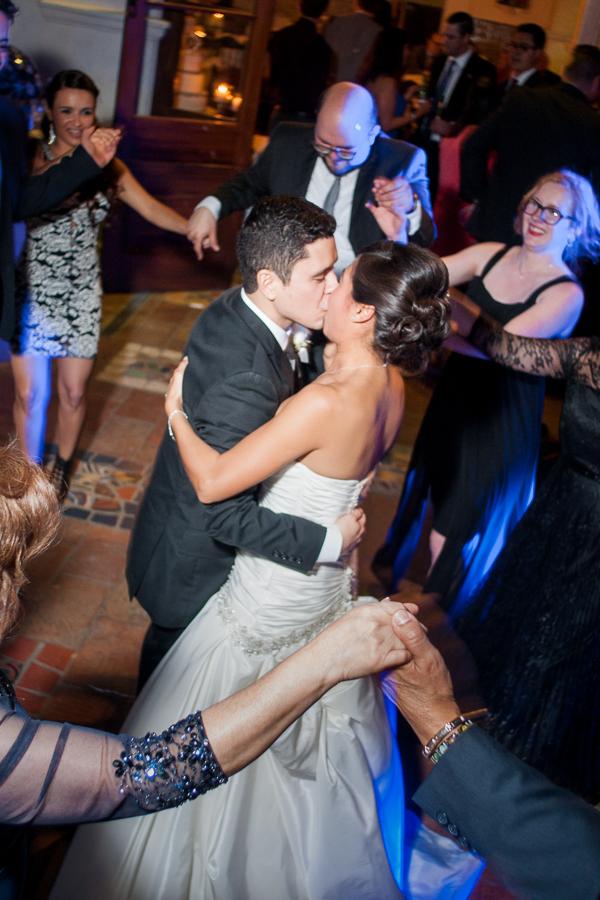 Bride and Groom dancing at La Fonda on Main - San Antonio Wedding Photographer