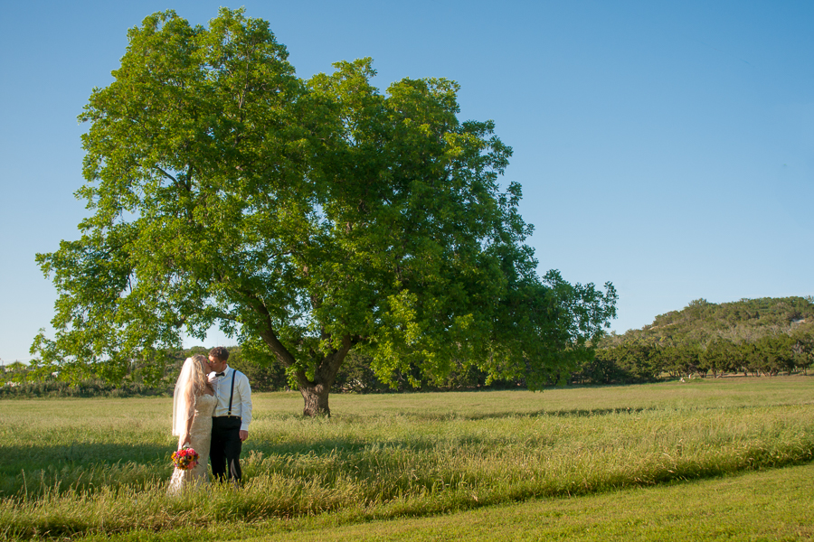 Bride and Groom Married at Rock House Hideaway in Fredericksburg, Texas by San Antonio Wedding Photographer Parker Radbourne