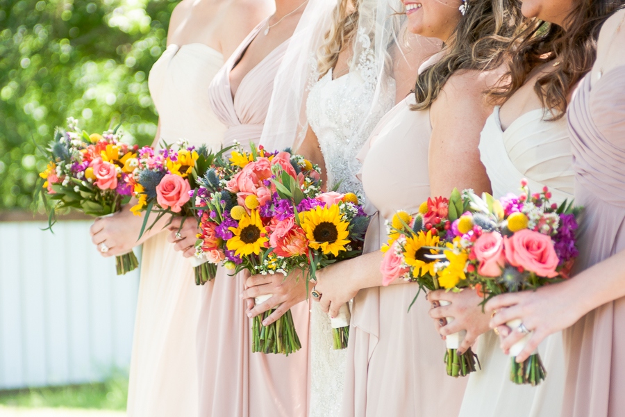 Bridesmaid Bouquets at Rock House Hideaway in Fredericksburg, Texas by San Antonio Wedding Photographer Parker Radbourne
